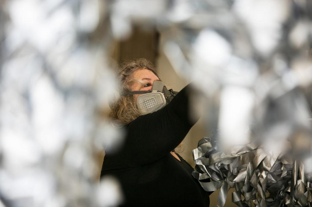 Claudia Quick in der Installation Creatures