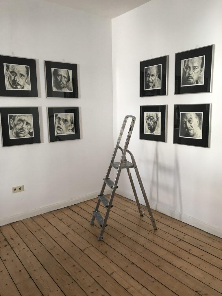 Ausstellungsaufbau Andreas Noßmann